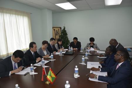 外交部副部長王超訪問格林納達